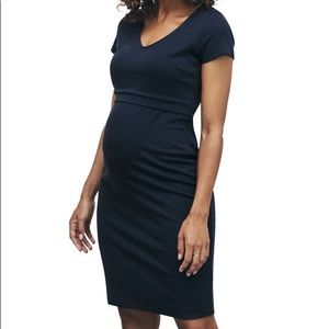 Boob design nursing dress, black, size L